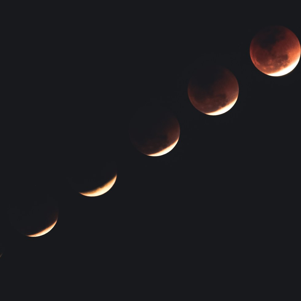 Photograph of phases of the moon.